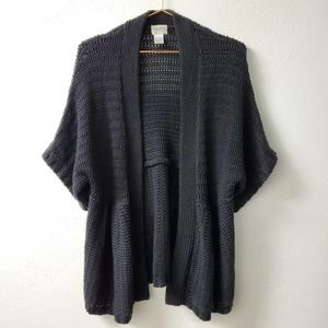CHICOS | Black Open Front Knit Cardigan 2